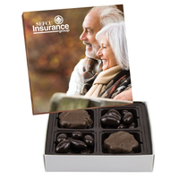Square Custom Candy Box with Turtles and Chocolate Almonds