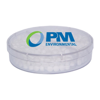 Full Moon Acrylic Container with Sugar Free Mints