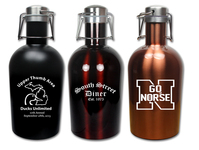 Colored Stainless Steel 64 oz. Growler