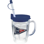 14 oz Thermal Double Wall Travel Mug - Embroidered Emblem