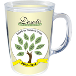 14 oz Thermal Double Wall Mug - White Printed Insert