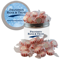 Half-Quart Tin Containers with Starlite Mints - Breath Mints