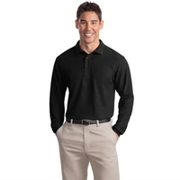 Port Authority Silk Touch Long Sleeve Polo.