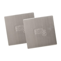 Die Struck Stainless Steel Square Beverage Coaster