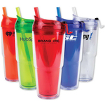 Strato 18 oz. Double Wall Tumbler with Straw