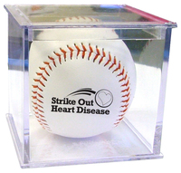 Official Size Baseball With Clear Lucite Case - E932