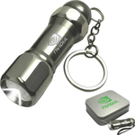 Magnetic Metal Flashlight and Keychain Set