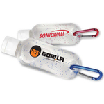 Sanitizer with carabiner
