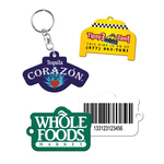 Custom Shaped Full Color Plastic Key chains