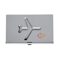 Metal Airplane Business Card Holder