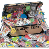 Pirate's Treasure Chest with 200 Popular Toys