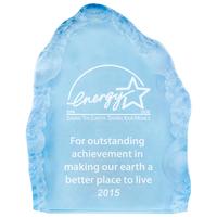 Small acrylic blue iceberg award