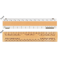 "6"" Architectural Wooden 2 Bevel Ruler"