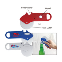 Pizza cutter W/ bottle Opener