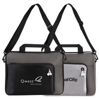 "Poly Metallic Doby 15"" Laptop Briefcase"