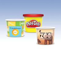 8oz-Reusable White Plastic Containers