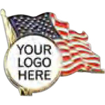 Lapel Pin - USA Flag with custom logo