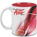 Two-Tone - Ceramic 11 oz White Red Interior Mug