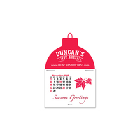 Custom Shape Press-N-Stick (TM) Calendar