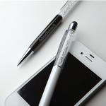 Metal ballpoint pen with stylus