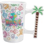 16 oz White Ceramic Playa Mug