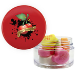 Twist Top Container Red Cap with Conversation Hearts