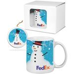 Classic White Mug & Ornament Gift Set