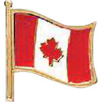 "5/8"" Canada Flag Lapel pin"