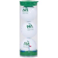 Clear Tube with 3 Nike NDX Heat Golf Balls