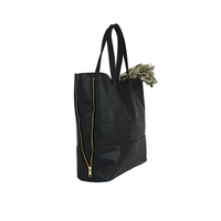 Pleather Expandable Tote