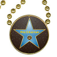 Round Mardi Gras Beads with Inline Medallion & Variable Data