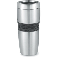 16 oz. double wall stainless Daytona tumbler with mesh grip