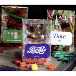 Seasonal Patterned Cellophane Gift Bag with Beef Jerky Fill