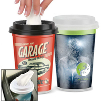 Facial Tissues in a Plastic to Go Cup