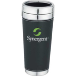 Stainless steel inside tumbler with leatherette sleeve