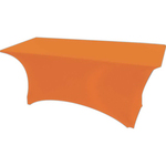 Blank Stretch Hospitality Covers, 8' Banquet Table Cover