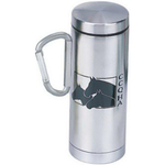 Stainless steel carabiner, double wall mug