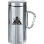 Stainless steel carabiner, double wall mug