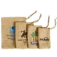 Sweet Treats Jute/Burlap Drawstring Bag