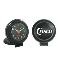 Round Compact Clock and Alarm