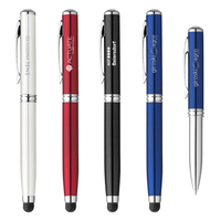 Metal Ballpoint Stylus Pen LED Laser Pointer