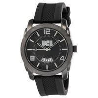 Maverick IP Black Plated with a Silicone Strap