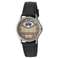 Neptune Medallion Silver/Leather Men's and Ladies' Watch
