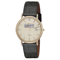 Watch with a 5-micron gold plated case