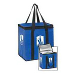 Insulated Zipper Top Lunch Tote - Screen Print