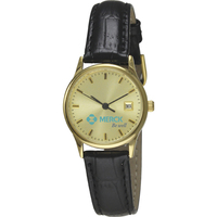 Watch with one micron gold plated brass case