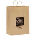 Natural Kraft Paper Shopper Bags - Flexo Ink