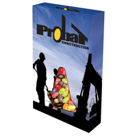 Customizable Cone Box Packaging with Jelly Beans
