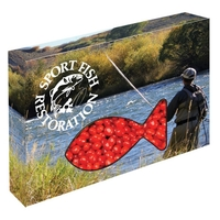 Customizable Fish Packaging with Cinnamon Red Hots Candy