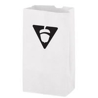 White Kraft Paper SOS Grocery Bag 6# - Flexo Ink